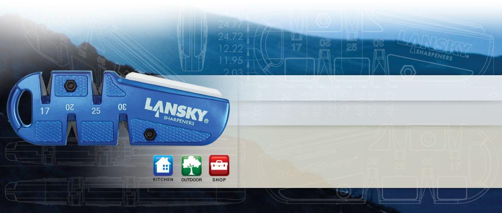 Lansky QSHARP QuadSharp Sharpener 4 Angles Blue